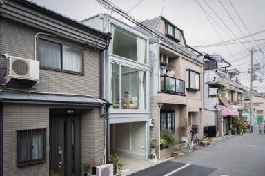 Nhà khung thép 44m2 với kiến trúc Nhật Bản