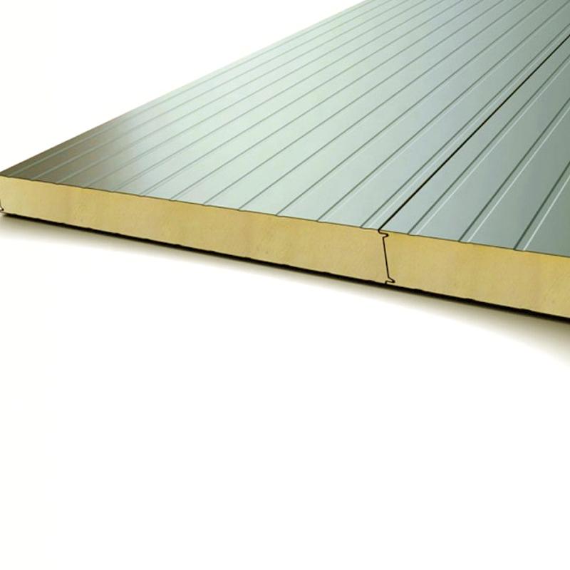 Tấm panel PU độ dày 50mm chống cháy lan, Tôn dày 0.4mm