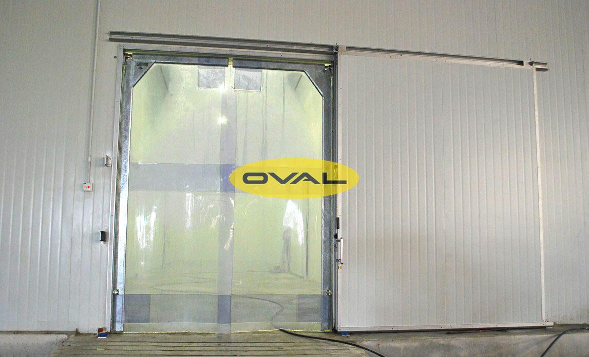 Ứng dụng tấm panel pu làm cửa trượt kho đông lạnh, kho bảo quản