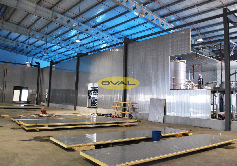 Ứng dụng tấm Panel Pu làm nhà xưởng công nghiệp