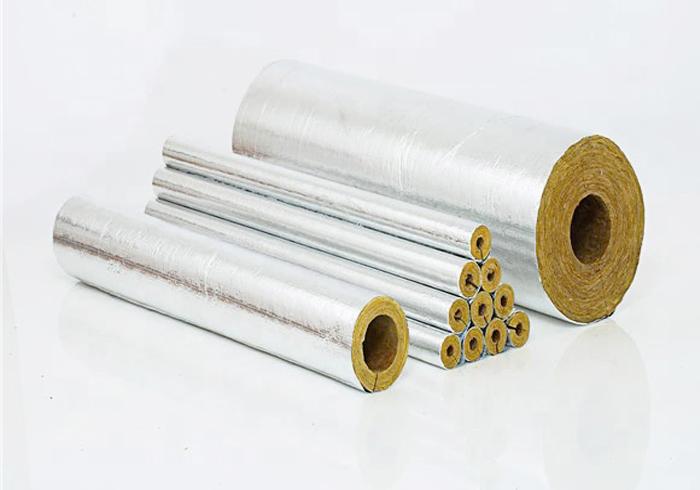 Bông khoáng dạng ống có quấn giấy bạc